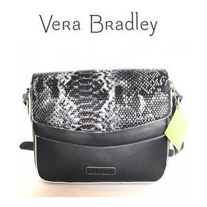 Vera Bradley Twice as Nice Crossbody Black Python